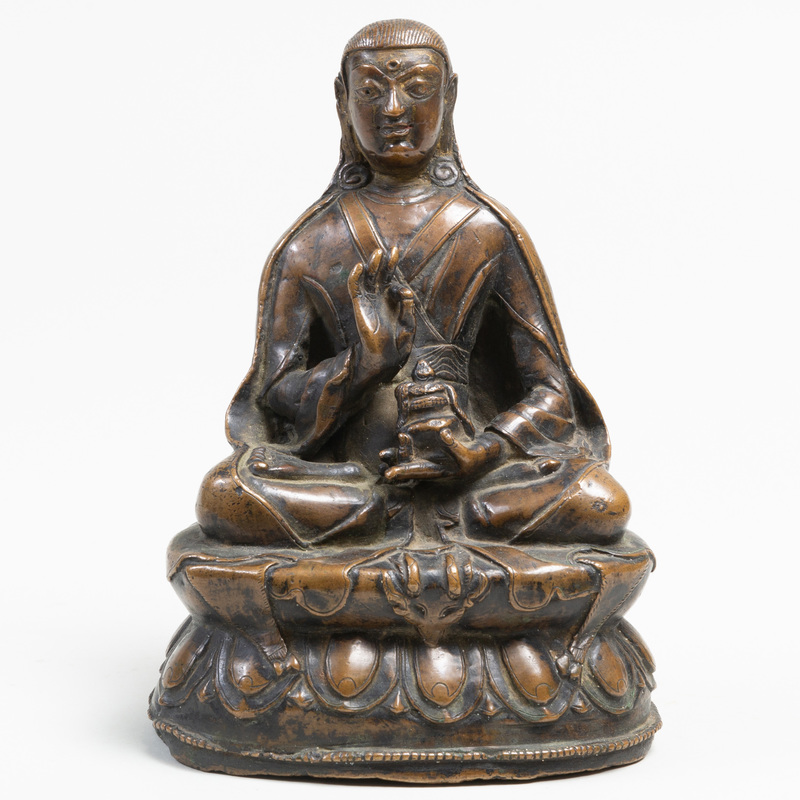 Tibetan Bronze Figure of Buddha as a Lama