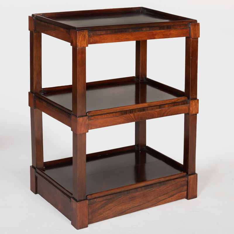 Modern Rosewood Three Tier Étagère