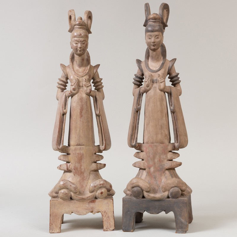 Allen Townsend Terrell (1897-1986): Chinese Tomb Figures, Two Figures