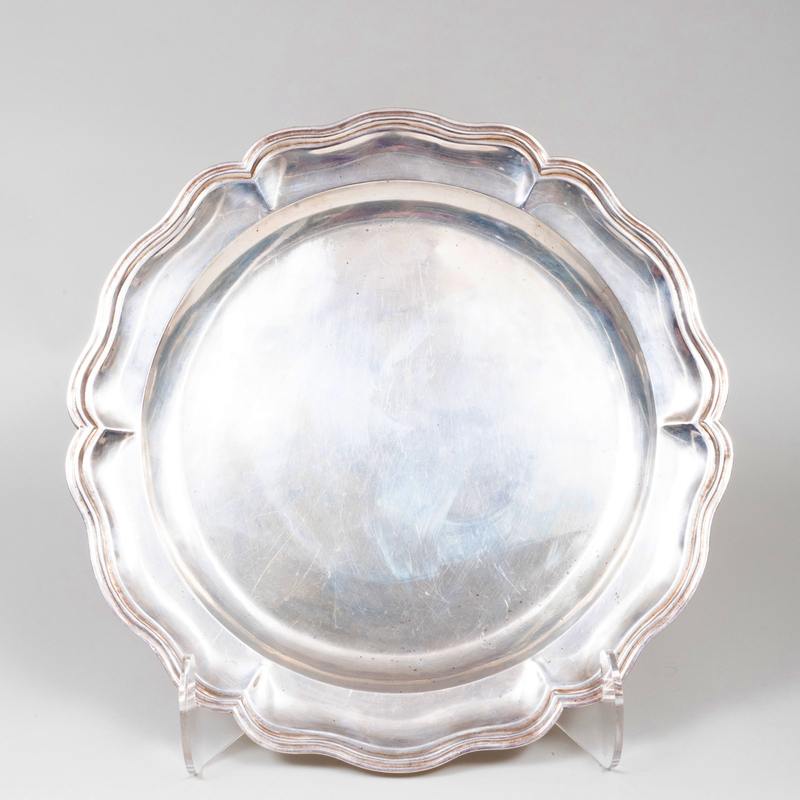 Ortega and Sanborn Hand Hammered Large Silver Tray