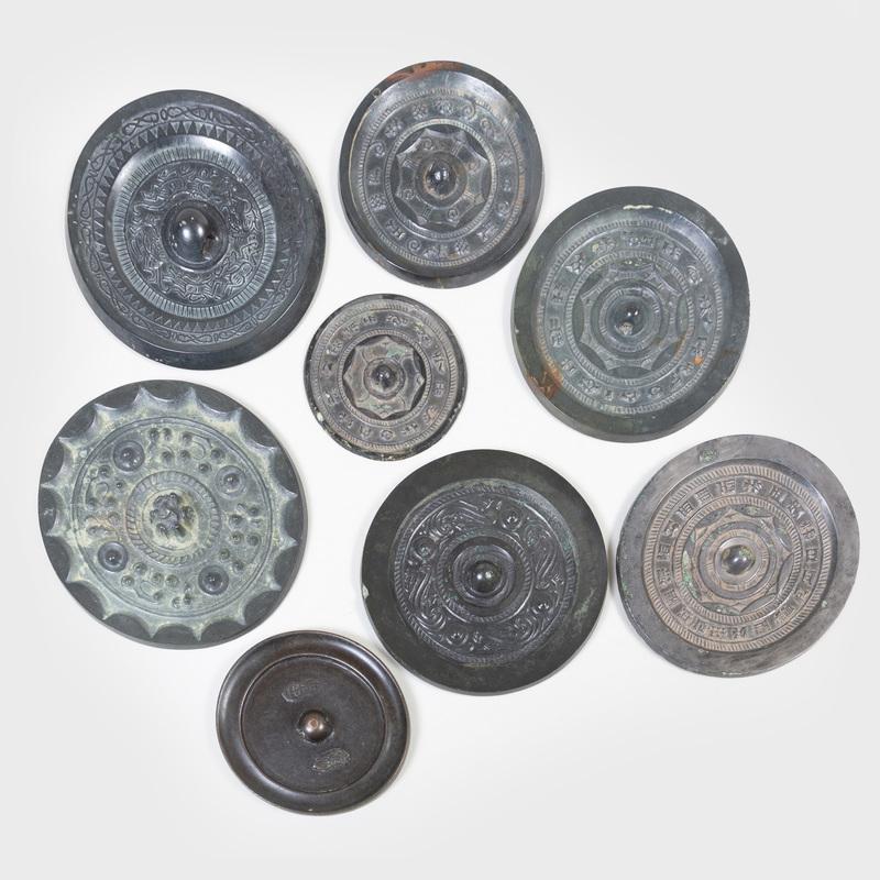 Group of Eight Chinese Bronze Mirrors