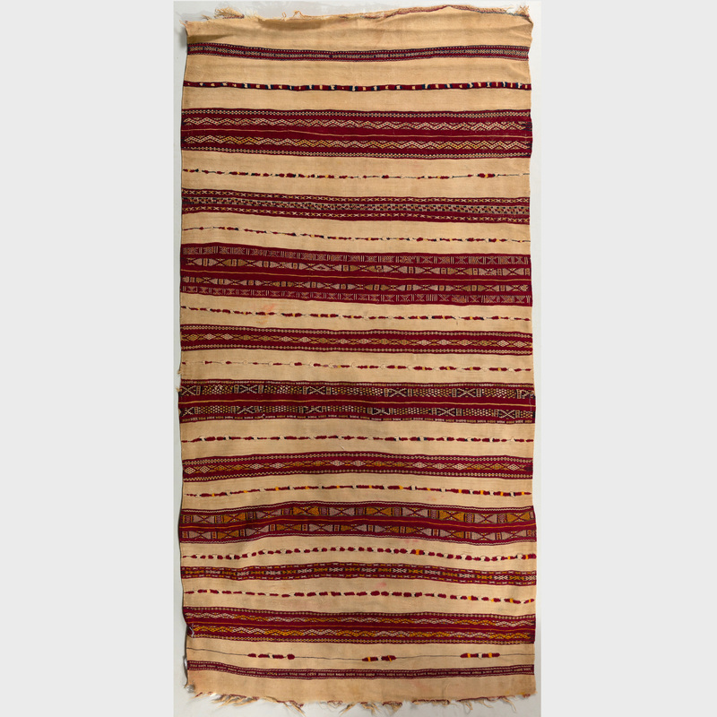 Group of Three Moroccan Multicolored Flatweave Rugs