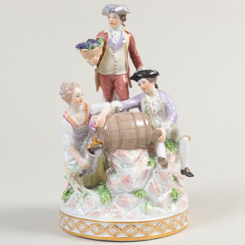 Berlin Porcelain Vinter Figure Group