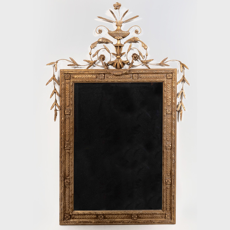 Continental Neoclassical Style Giltwood Mirror, of Recent Manufacturer