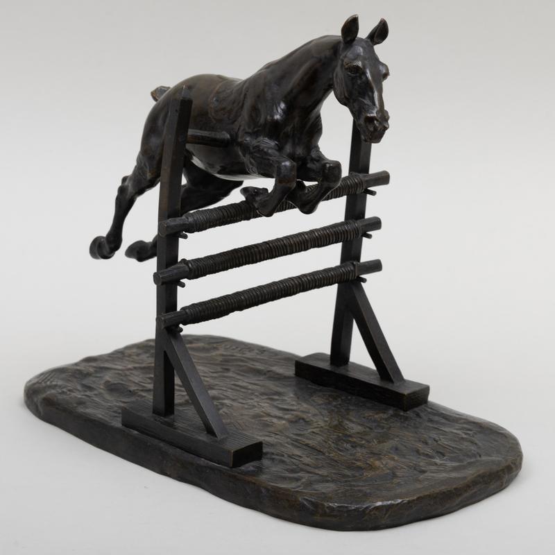 Gaston D'Illiers (1876-1932/52): Cheval à la barrière
