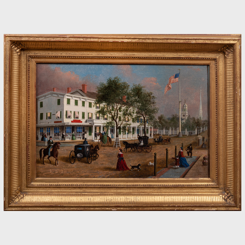 John Evers (1797-1884): North East Corner, Front Street, Hempstead, New York