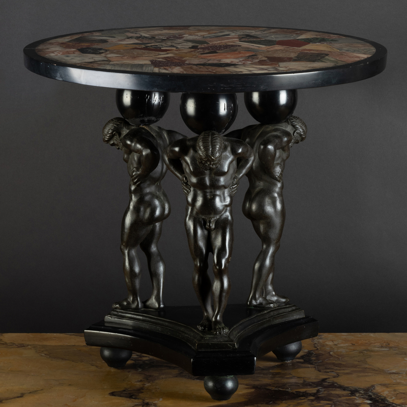 Italian Neoclassical Bronze-Mounted Specimen Marble Low Table