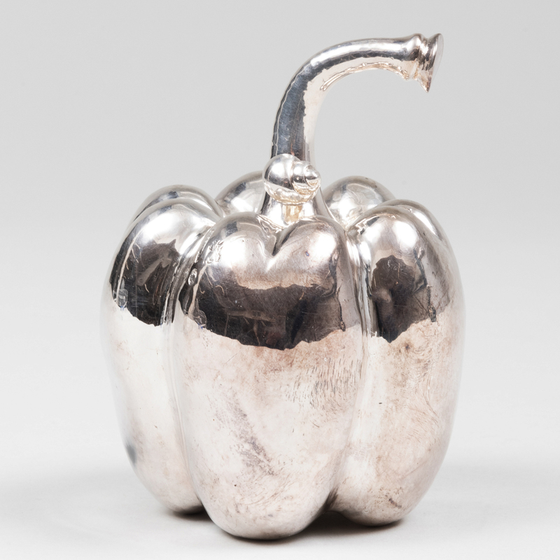 Italian Silver Pepper Form Grinder