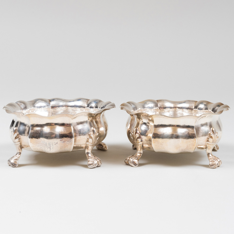 Pair of Buccellati Silver Footed Dishes