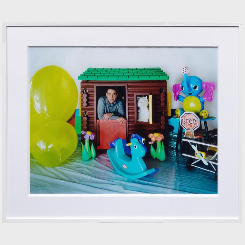 Todd Eberle (b. 1963): Jeff Koons in Ludwig's Playroom