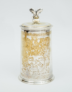 Large Silver-Plated Tankard