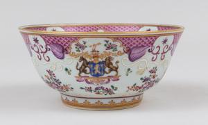 Samson Famille Rose Armorial Porcelain Bowl