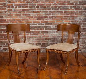 Style of T.H. Robsjohn-Gibbings Pair of Klismos Chairs by Kreiss