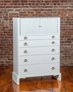 Tommi Parzinger/Charak Modern White-Painted Chest of Drawers