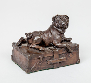 J.L. Spouse: Pug on a Suitcase
