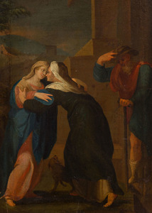 ATTRIBUTED TO JOHANN FRIEDRICH OVERBECK (1789-1869): THE EMBRACE