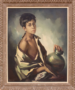 ATTRIBUTED TO DOMINGO HUETOS (b. 1928): BOY WITH VASE