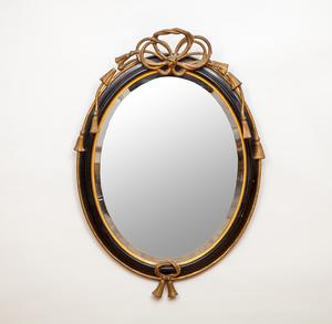 Napoleon III Ebonized and Giltwood Mirror