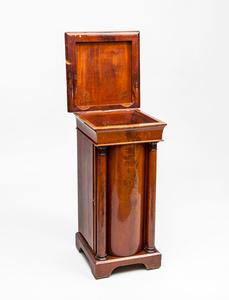 Danish Neoclassical Mahogany Pot Cabinet