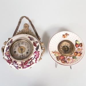 Two D.F. Haynes & Co. Chesapeake Pottery 'Avalon' Clocks
