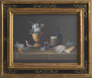 ATTRIBUTED TO PAUL LELONG (1799-1846): STILL LIFES: A PAIR