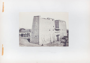 FRANCIS FRITH (1822-1898): THE GREAT LYLON AT EDFOU; ENTRANCE TO THE GREAT TEMPLE, ABOU SIMBEL; SCULPTURES FROM THE OUTER WALL