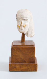 EGYPTIAN CARVED LIMESTONE HEAD OF A MAN