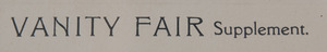 VANITY FAIR: FIVE PLATES