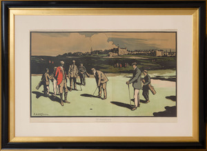 AFTER NEVISON ARTHUR LORAINE (1863-1934): ST. ANDREWS; AND A MIXED FOURSOME