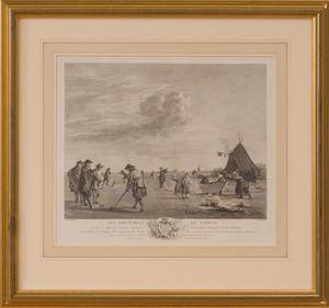 AFTER ADRIAEN VAN DE VELDE (1636-1672): LES AMUSEMENS DE L'HIVER
