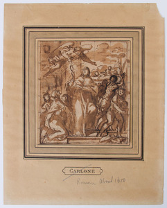 ITALIAN SCHOOL: GIVING ALMS; FIGURE AND ANGEL; AND STUDY OF AN ANGEL