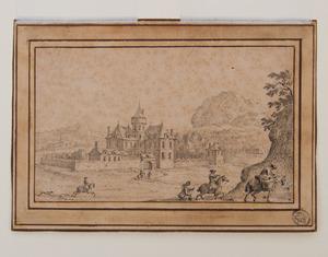 ATTRIBUTED TO GILLIS AEGIDIUS NEYTS (1623-1687): CASTLE VIEW