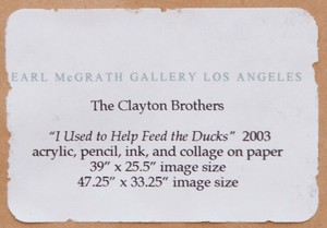 THE CLAYTON BROTHERS (ROB AND CHRISTIAN CLAYTON): I USED TO HELP FEED THE DUCKS