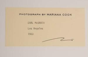 MARINA COOK: EARL McGRATH