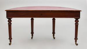 William IV Mahogany D-Shaped Writing Table