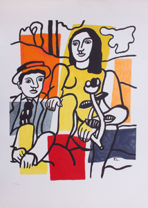 AFTER FERNAND LEGER (1881-1955): THE COUPLE