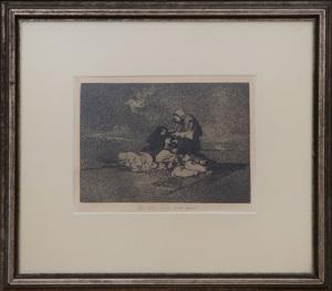 FRANCISCO DE GOYA (1746-1828): DE QUÉ SIRVE UNA TAZA?, PLATE 59 FROM DESASTRES DE LA GUERRA