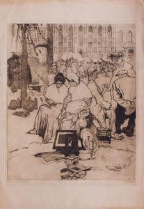 JULES DE BRUYCKER (1870-1945): WURKLEPT DE DOODOVEN VRANDRENLAND; AND PLACE DU VIEUX BOURG A BRUGES