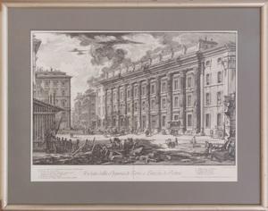 GIOVANNI BATTISTA PIRANESI (1720-1778): VEDUTA DELLA DOGANA DI TERRA A PIAZZA DE PIETRA, FROM VEDUTE DI ROMA
