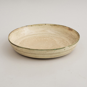 SONG STYLE IVORY GLAZED POTTERY DEEP DISH