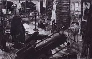 JEAN ÉMILE LABOUREAUR (1877-1942): MASQUE AUX CHEVEAUX D'OR