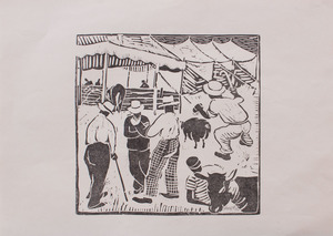 GERTRUDE QUASTLER (1909-1963): COUNTY FAIR #5; AND COUNTY FAIR #3