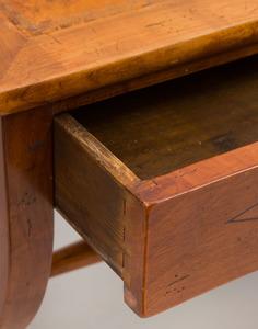 Continental Ebony Line-Inlaid Fruitwood Writing Desk
