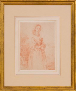 FRENCH SCHOOL: PORTRAIT OF A WOMAN STANDING