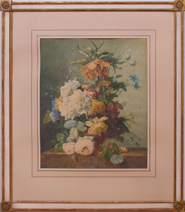 CONTINENTAL SCHOOL: STILL LIFE WITH FLOWERS AND A BEE; AND STILL LIFE WITH FLOWERS