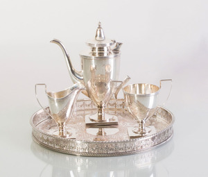 WATSON THREE-PIECE STERLING SILVER COFFEE SET
