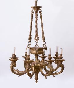 RÉGENCE STYLE GILT-BRONZE EIGHT-LIGHT CHANDELIER