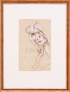 JACK LEVINE (1915-2010): STUDY FOR CAIN AND ABEL