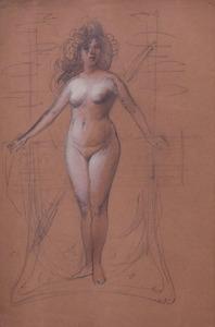 ANDRÉ EUGÈNE COSTILHES (1865-1940): SCULPTURE STUDY