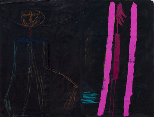 DAVID SPILLER (b. 1942): N.Y. PARACHUTE MAN; AND PINK FIG THAT REMINDED ME OF A TOOTHBRUSH